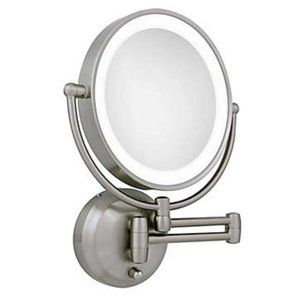 Zadro® Dual-Sided Round LED Lighted Wall Mirror